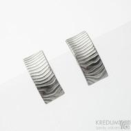 Kované elegantní dámské náušnice z nerez oceli damasteel - Moon Collium - SK3091