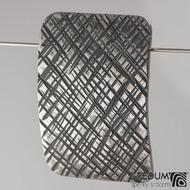 Kovaná nerez spona Mistr 4X - Mřížka a světle hnědý kožený pásek