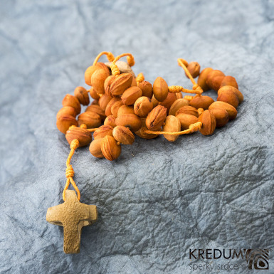 Peckový růženec - oranžový/oranžový