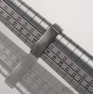 ROUND SQUARE velikost 57,5 - struktura dřevo - Kovaný prsten damasteel - produkt č. 061