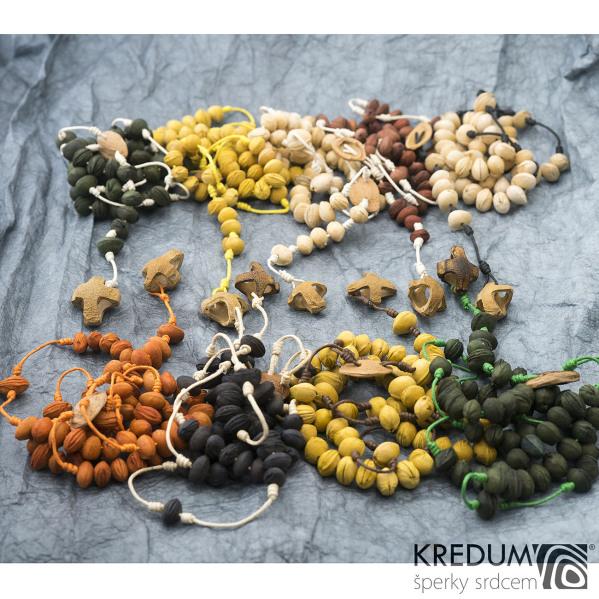 Peckový růženec - pestrobarevný - 5 skupin pecek po 10 - můžete zvolit barvy - dostupné jsou uvedeny v textu