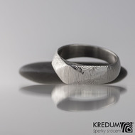 Kovaný zásnubní prsten damasteel - GRADA - velikost 55