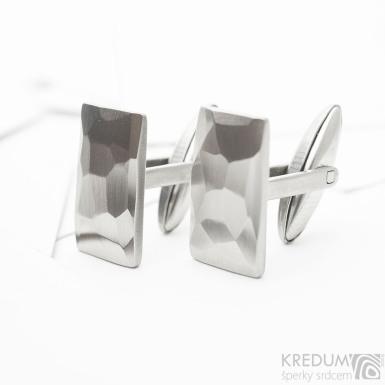 Rock - lesklé - kované nerezové manžetové knoflíky, SK3821