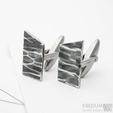 Desk KANT - kované manžetové knoflíčky nerez, SK3820