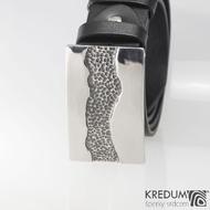 Kovaná nerez spona na kožený pásek 4cm - River