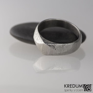 Kovaný zásnubní prsten damasteel - GRADA