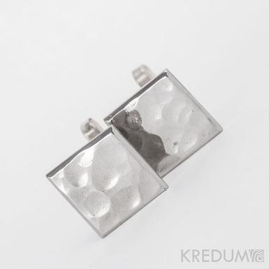 Manžetové knoflíčky, nerezová ocel - Quatro dent