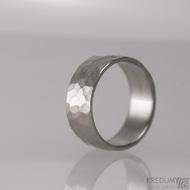 Prsten kovaná nerezová ocel - Draill - lesklý