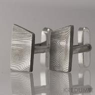 Kované manžetové knoflíčky damasteel - Desk