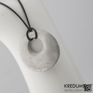 Kovaný damasteel přívěsek - Vizia, produkt č. 2124 - linie vodorovné