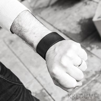 Kožený náramek - Manus 35 černý