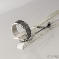 Kovaný nerezový snubní prsten - Archeos