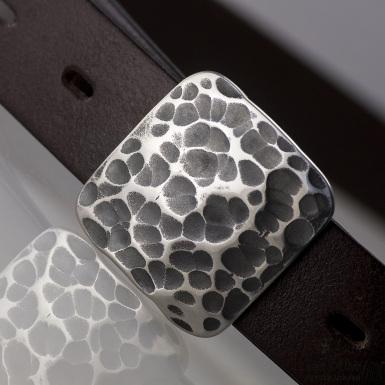 Kovaná nerez spona 3 cm - Kavalír 3X - Draill pro kožený pásek 3 cm