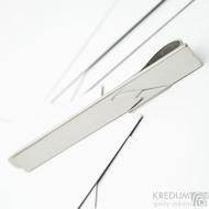 Reflex - Jednoduchá nerezová spona na kravatu, lesklá, SK3684