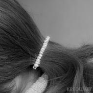 Perlová linka - Spona s pravými perlami - 10 cm