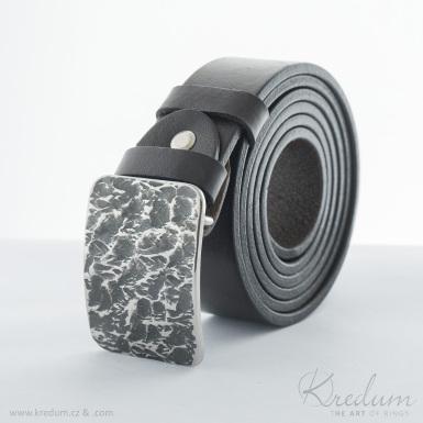 Kovaná nerez spona - Mistr 3,5X - Archeos + kožený pásek 3,5X - SK4130