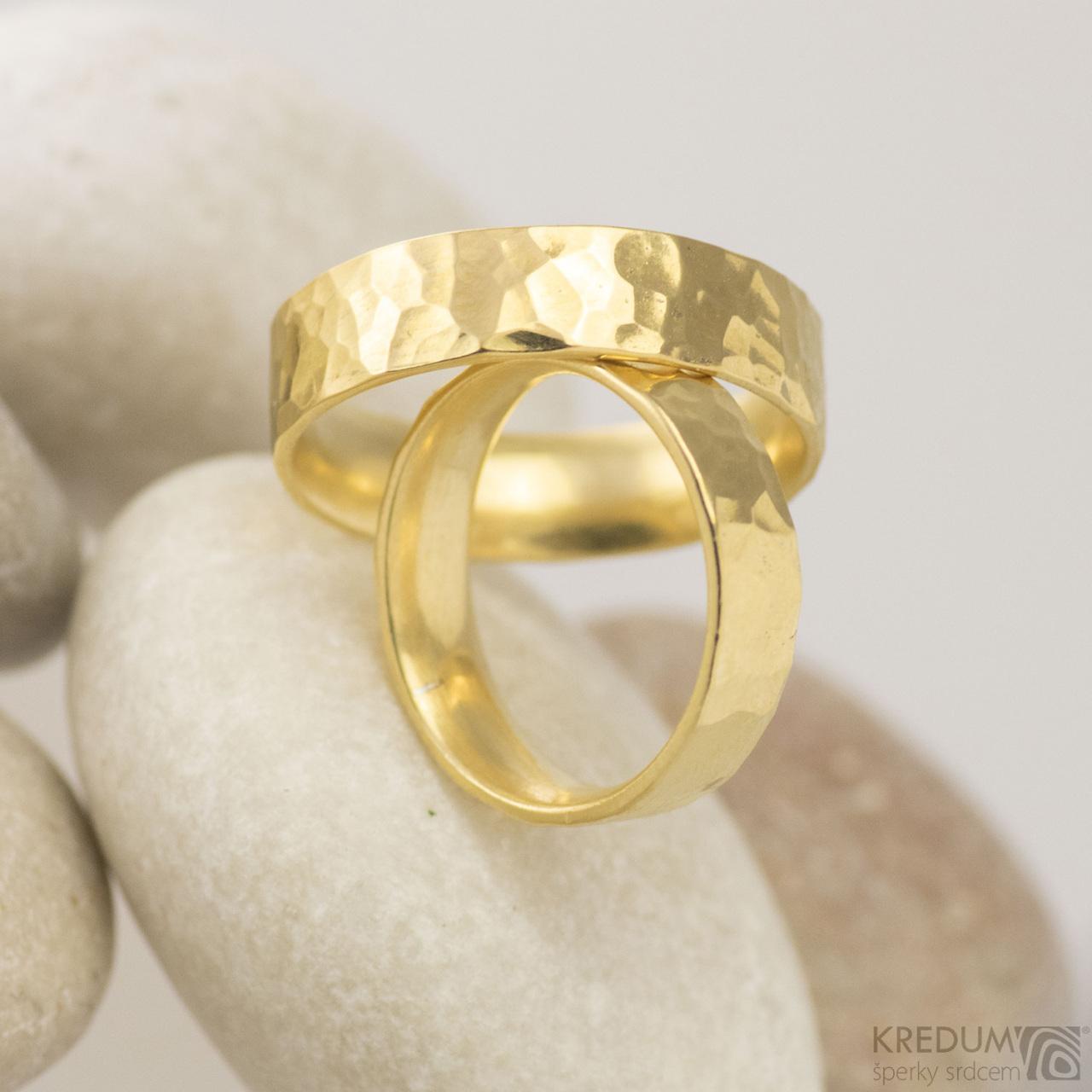 Golden Draill Yellow Zlaty Snubni Prsten Vyroba Hand Made Snubni