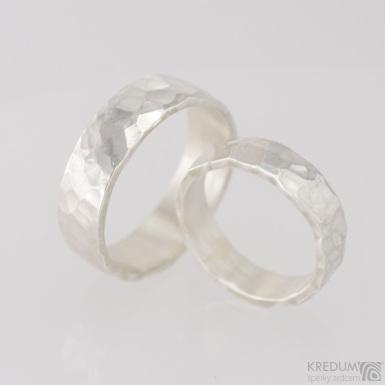 Stříbrné snubní prsteny Draill silver (2)