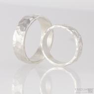Stříbrné snubní prsteny Draill silver (3)