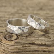 Stříbrné snubní prsteny Draill silver (7)