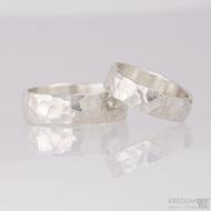 Stříbrné snubní prsteny Draill silver (9)