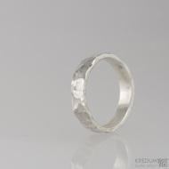 Stříbrný prsten Draill silver; vel.51,5; šíře 4,5 mm(2)
