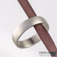 Prsten kovaný - Klasik titan - matný