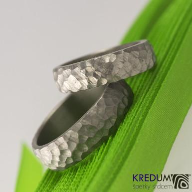 Klasik Marro titan - kovaný snubní prsten