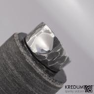 Design nerezový snubní prsten - Klín
