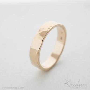 Natura gold red - zlatý snubní prsten - SK3930