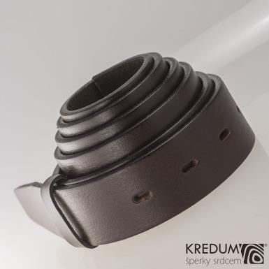 Kožený pásek 3,5X  - barva hnědá