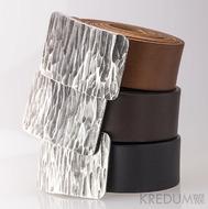 Kovaná nerez spona - Mistr 4X - Kant + různé barvy pásků