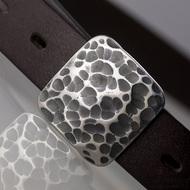 Kovaná nerez spona - Kavalír 3X - Draill + tmavě hnědý pásek