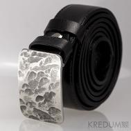 Kovaná nerez spona - Mistr 3,5X - Plate + černý pásek (objednává se samostatně)
