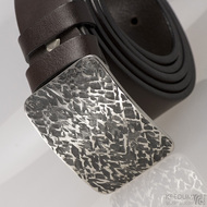 Kovaná nerez spona - Mistr 3,5X - Archeos + tmavě hnědý pásek