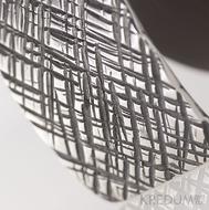 Kovaná nerez spona - Mistr 3,5X - Mřížka + tmavě hnědý pásek (objednává se samostatně)