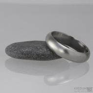 Kovaný nerezový snubní prsten - Klasik matný, profil A