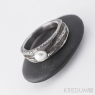 Zásnubní prsten s pravou perlou - Víla vod