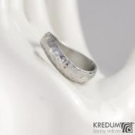 Kovaný nerezový snubní prsten - FOREVER Atlas, dříve Marro
