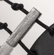 Kožený náramek - Manus 20 Damast S černý - ilustrační foto - struktura vždy unikátní