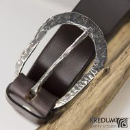 Luxusní kožený opasek a kovaná nerezová spona - Betree 3,5