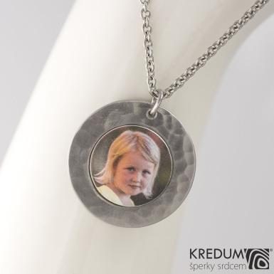 Medailon z nerezové oceli - Kolečko Draill