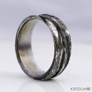 Snubní prsten damasteel - Pán vod