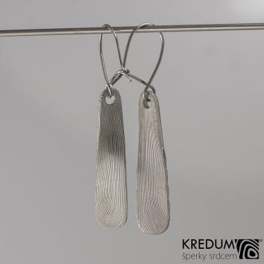 Kované damasteel náušnice - Naevo, produkt č. 2020