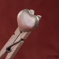 Kovaný přívěsek damasteel - Srdíčko, produkt č. 1526