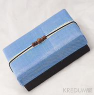 Krabička potažená hedvábím - modrá