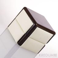 Dřevěná krabička s koženkou - Block image duo