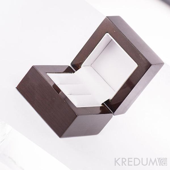 Dřevěná leštěná krabička  - Block image duo
