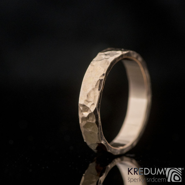 Golden Draill red - Zlatý snubní prsten, produkt č. 2139