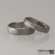 Prsten kovaný - Draill titan - matný